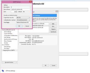 Change existing settings