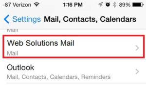 Wybierz konto e-mail, dla którego chcesz zmienić hasło.