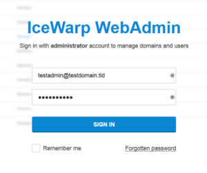 Login using your admin email account and password