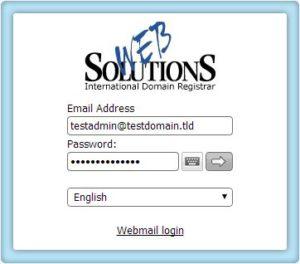 Zaloguj się przy użyciu danych logowania do konta e-mail administratora.