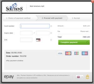 """Wprowadź numer karty kredytowej, datę ważności i kod CVC z karty kredytowej. Upewnij się, że dane wprowadzone są poprawne i naciśnij """"Płatność"""""""