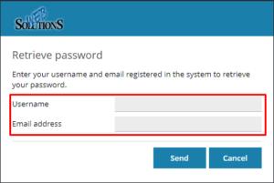 Na kolejnej stronie podaj nazwę użytkownika dla którego chcesz zresetować hasło oraz przypisany do niego adres e-mail.